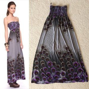 Forever 21 Peacock Maxi Dress